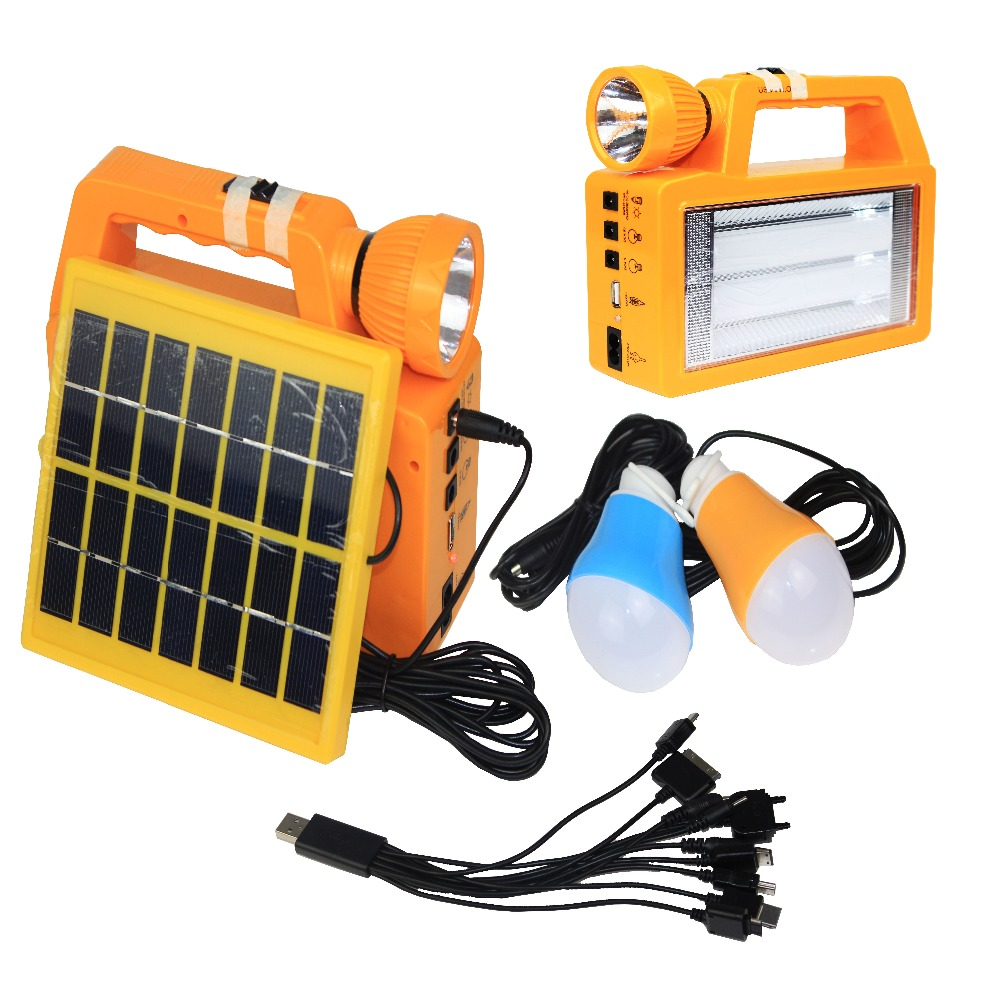 Manufacturer low price Mini solar panel home lighting systems kit with mobile chargers