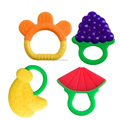 Cute Fruit Style Hot Selling Silicone Baby Teether Toy Infant Teeth Stick FDA BPA Free