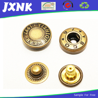 copper press snap fasteners clip buttons for garments and pant