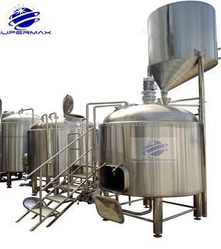 Supermax glycol cooling jacket conical copper microbrewery equipment for brewhouse and fermenting