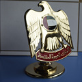 Luxury UAE gold male eagle rotatable trophy for uae national day gifts