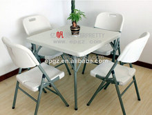 Folding Metal Club Catering Party Table And Chair In Plastic PE