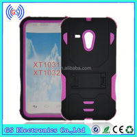 Pc+Silicon Future Armor Kickstand Combo Hybrid Case Cover Hard Rubber Back Cover cell phone case for ZTE N9520 MAX
