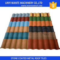 Hot sell High Quality Types Of Colorful Stone Coated Chip Steel Roofing for factory use