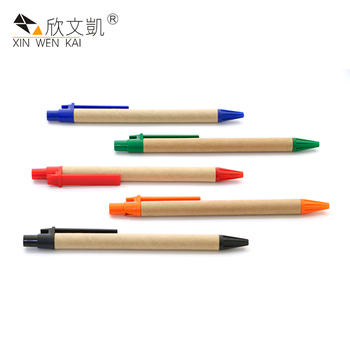 Trade Assurance Multi Color Smooth Fast Writing Eco-Friendly Recyclable Paper Ball Pen
