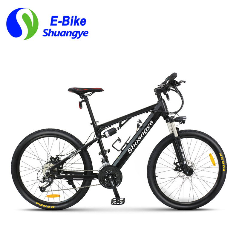 27 speed 26 inch aluminum frame full suspension electric mountain bike