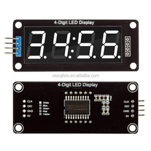 0.56 Inch 4 Digit LED Display Tube Decimal 7 Segments TM1637 Clock Double Dots Module White Display