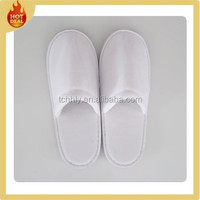 Wholesale hotel terry towel bathroom slippers