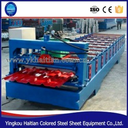 glazed roof tile roll forming machine roof tile making extrusion machine
