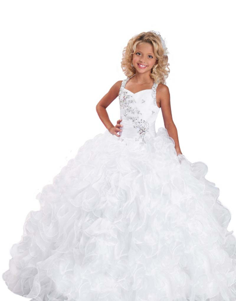 Buy Ritzee Girls Lovely White Flower Girl Dresses Evening Prom First