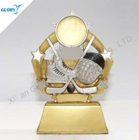Wholesale Sport Resin Trophy Figures for Ice Hockey Souvenir
