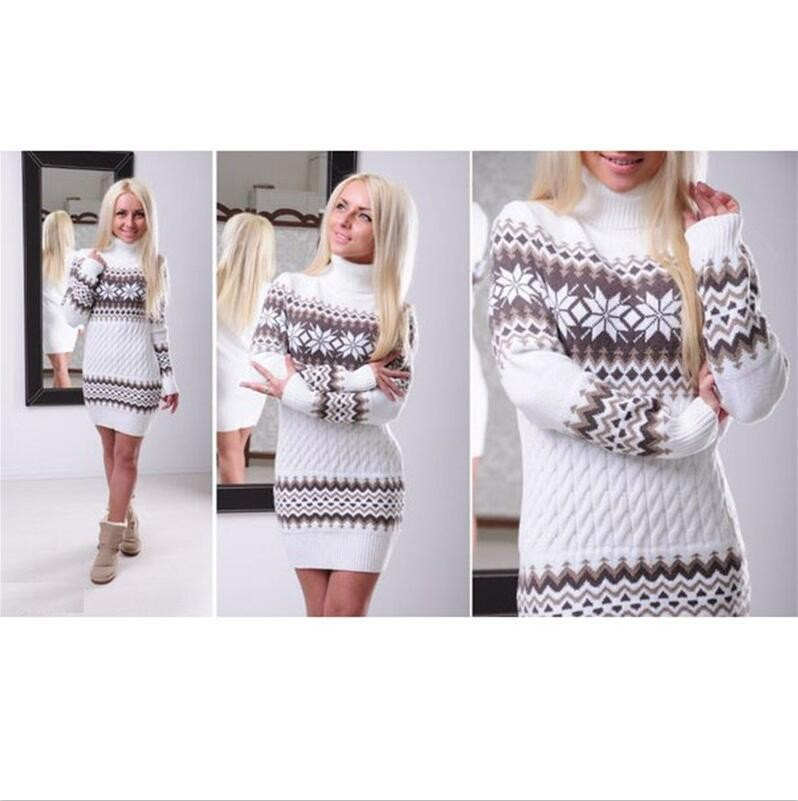 2016 Latest Design Ladies Winter Long Turtleneck 100% Wool Sweater