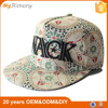 Custom design vintage snapback 3d embroidery cycling caps and hats