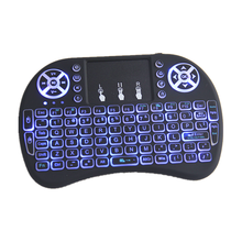 2018 New Mini i8 Pro 2.4g wireless mouse backlit 2.4G RF remote control with best quality and low price 2.4ghz wireless keyboard