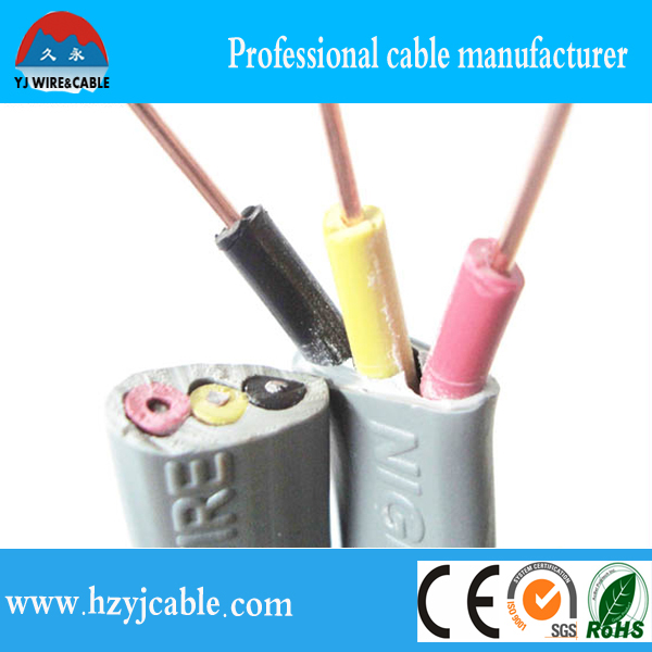 Three Core Flat Cables : V core pvc jacket flat cable price of copper