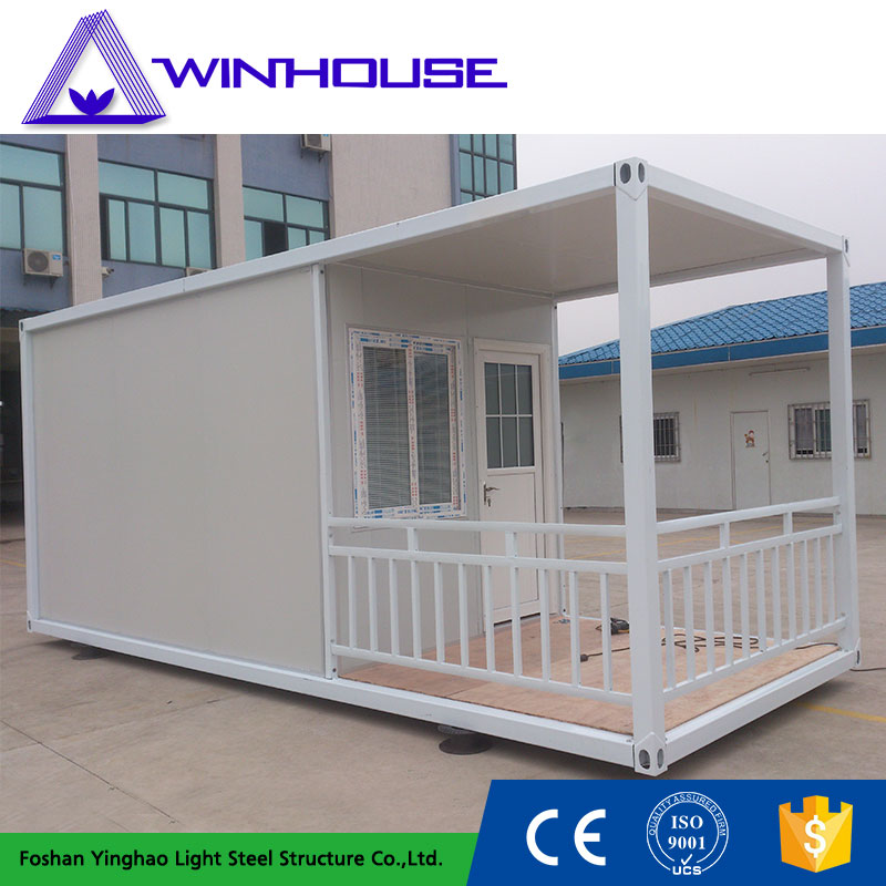 Beautiful Steel Prefabricated Mobile Container House With Balcony