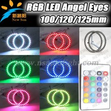 Latest Promotional Price 12v 125mm RGB Angel Eyes For All Cars With 16 RGB Color Options