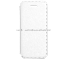 2014 Newest Factory directly sublimation Leather cover for iPhone5/ Heat press 3D blank cases