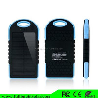 5000mAh portable outdoor high quality solar phone charger