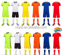 The new trend of the new design of youth football clothes wholesale football set custom football jerseys