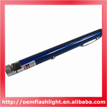 Rechargeable 5mW Red Light Laser Pointer Pen - Blue + Silver
