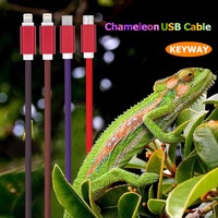 China Manufacturer 8 Pin Data Cords Line Thermal Induction Color Changing USB Charging Cable for Iphone 7 6 5 Plus