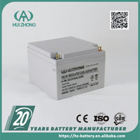Strong powerful new coming 12v 24AH gel solar battery for emergency lighting