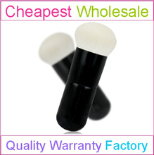 White BJF Goat Hair Large Size Face Powder Brush with Black Wood Handle Makeup Face Powder Brush