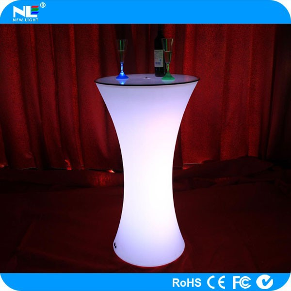 High-end night club make LED illuminated table light / color changing LED furniture high top table