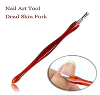 $0.24/each Nail Factory direct Art Tool Dead Skin Fork Trimmer Peeling Knife Cuticle Remover 439 Free Shipping