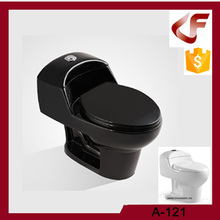Mexico WC Siphonic black one piece toilet with customized colors