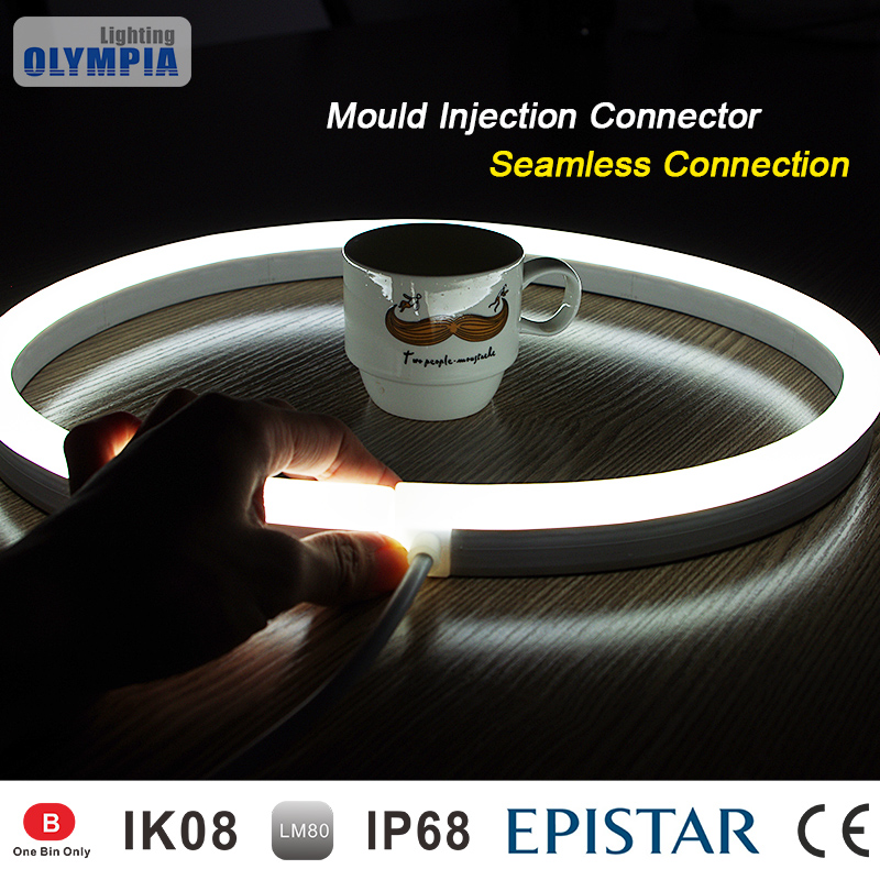White Jacket Transparent 24V/12V 60LED 5050SMD Flexible LED Strip Light