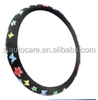 2015 new fashion design steering wheel covers for girls