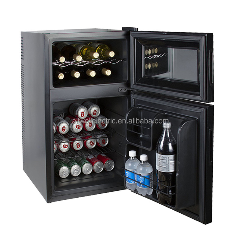 18 inches wide home under counter compact dual zone thermoelectric good beer and wine cooler combo