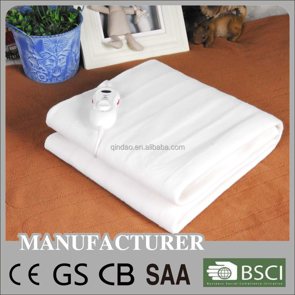 CE GS RoHS BSCI Approved Electric Heating Blanket with Auto Off Timer