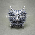 Belt Buckle For Men Silver Plated Real Nature Peal Rhinestones Dragon Belt Buckle BUCKLE-AN005SL Brand New In Stock