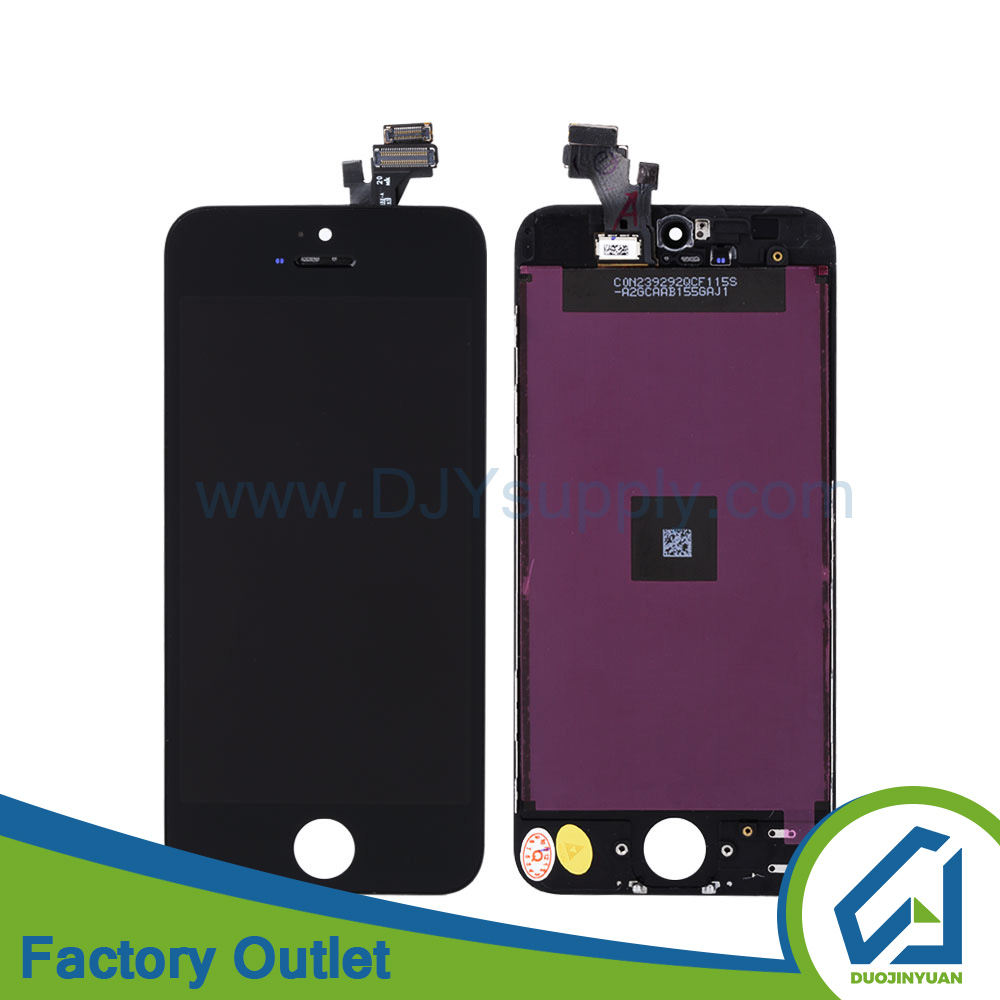 Guangzhou price for iphone 5 lcd digitizer assembly,wholesale oem factory for iphone 5 recycle broken lcd screen replacement