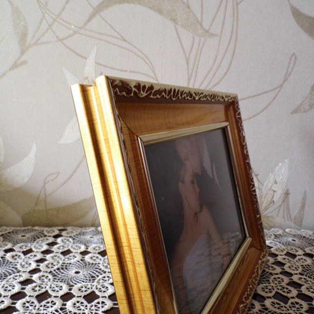 Classic gold color plated plastic ornate molding decoration PS foam photo frames