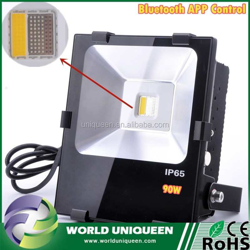Bluetooth 4.0 APP Control RGBW Most Powerful IP65 Outdoor Led Floodlight 90W COB Led Flood Light