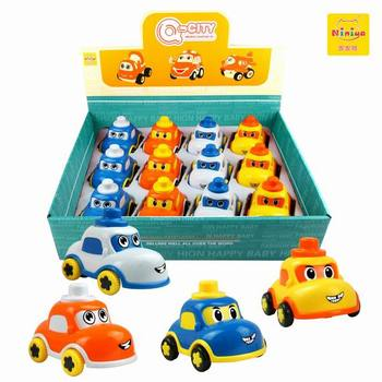 Q-CITY educational kids car New plastic small lovely friction car toys