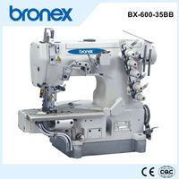BX-600-35BB Cylinderbed interlock sewing machine with left hand cutter logo sewing machine 600 ultrasonic sealing sewing machine