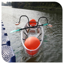 transparent fishing kayak sea beach boat