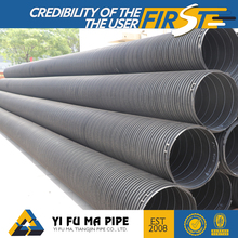 "Manufacturer 8"" 9"" drainage plastic-steel winding pipe hdpe black corrugated pipes price"