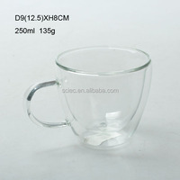 2016 clear drinking glass cup the double-layer glass cup