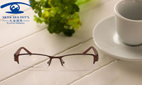 Classic Design Style Size 50-17-135 Rubber Temple Metal Eyeglasses Men Optical Frames Stock