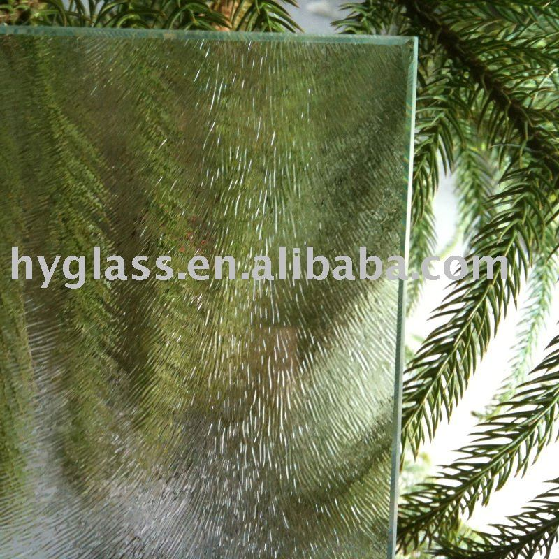 4.0-6.0MM Clear Clear Chinchilla Figured Glass