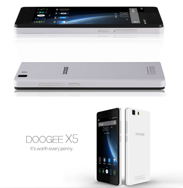 Wholesale smartphone Doogee x5 with moddel MTK6580 android 5.1 Quad Core