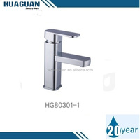 One hole one handle chrome-flated face basin faucet