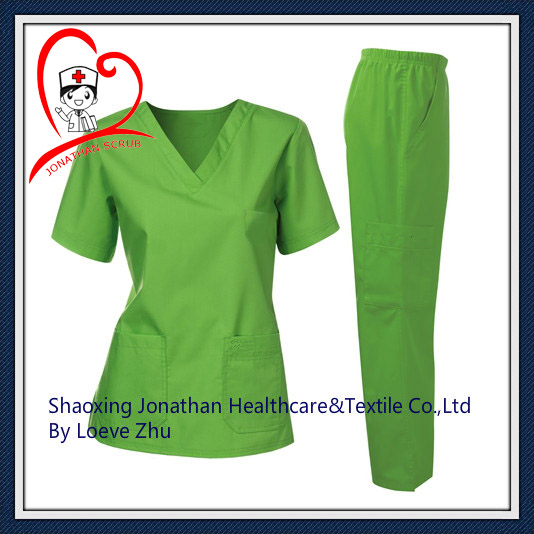 high quality! basic design medical uniforms scrub sets for nurse / pet doctor