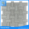 Wooden Grey Marble And Wooden White Marble Mosaci Wall Tiles